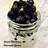 Lemon Blueberry Overnight Quinoa