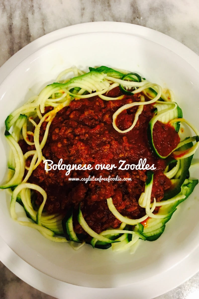 Bolognese over Zoodles