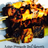 Asian Pineapple Beef Skewers