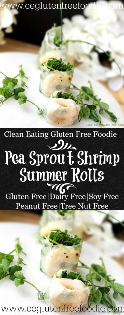 Pea Sprout Shrimp Summer Rolls
