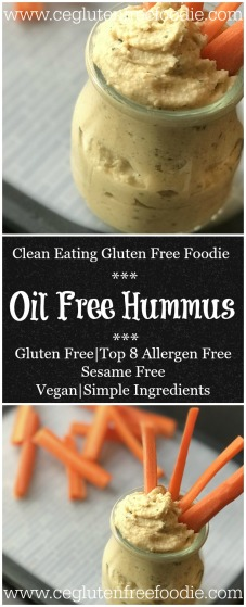 Oil Free Hummus Pin